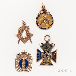 Group of Masonic Pins