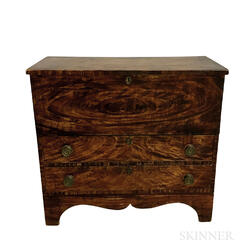 Federal Grain-painted Pine Two-drawer Blanket Chest