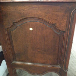 French Provincial Walnut Bow-front Commode