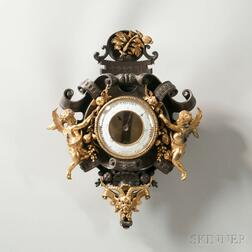 Bronze and Gilt French Aneroid Barometer