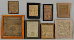 Group of Eight Framed Samplers