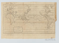 Map of George Anson's Voyage, 1740
