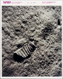 Apollo 11, Footprint on the Moon, July 1969.