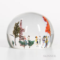 Alison Ruzsa Scenic Cocktail Party Paperweight