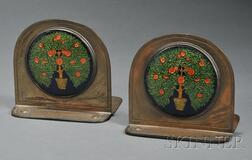 Pair of Rebecca Cauman Arts & Crafts Bookends