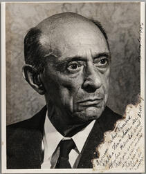 Schoenberg, Arnold (1874-1951) Photograph Signed, September 1950.