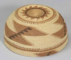 Northern California Twined Polychrome Basketry Hat
