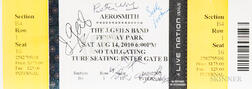 The J. Geils Band Autographed Reunion Concert Ticket