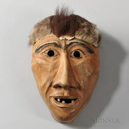 Cherokee Carved Wood Boogerman Mask