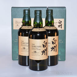 Hakushu 18 Years Old, 3 750ml bottles