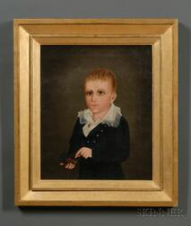 American School, 19th Century      Portrait of Oliver C. Coffin, Seven Years Old.
