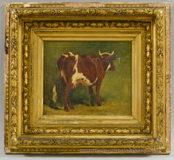 Anglo/American School, 19th Century       Portrait of a Cow