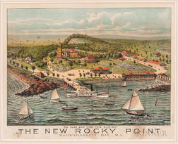 Framed Forbes Lithograph The New Rocky Point