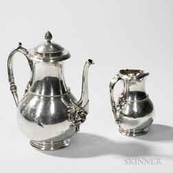 Tiffany & Co. Sterling Silver Coffeepot and Creamer