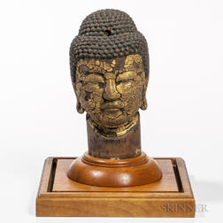 Wood Buddha Head