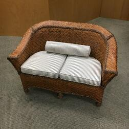 Child's Wicker Settee