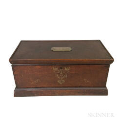 Stenciled Mahogany Box