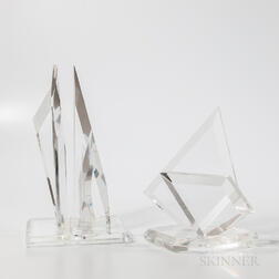 Two Mid-century Modern Lucite Sculptures