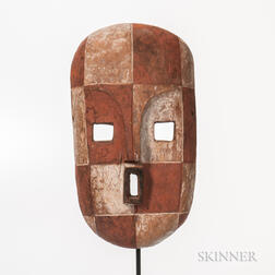 Congo Carved and Painted Wood Face Mask