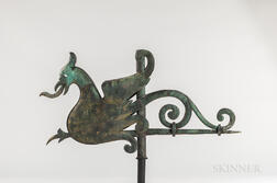 Molded Copper Griffin Weathervane