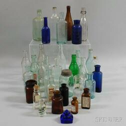 Large Group of Glass Bottles