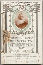 Edison, Thomas A. (1847-1931) Signed Program, Old Time Telegraphers and Historical Association of the U.S. Military Telegraph Corps, 1