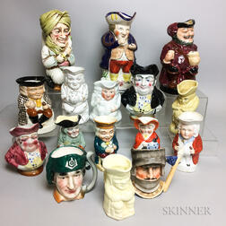 Sixteen English Ceramic Toby and Character Jugs