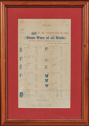 F.B. Norton & Co. Printed Illustrated Stoneware Price List