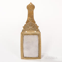 Engraved Brass Hand Mirror