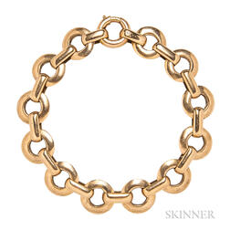 Retro 18kt Rose Gold Bracelet