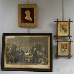Four Civil War-era Framed Items
