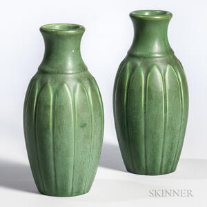 Pair of Hampshire Pottery Vases