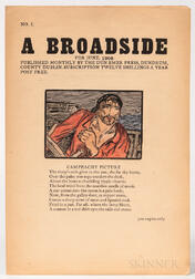 Yeats, Jack B. (1871-1957) A Broadside,   Seventy-seven Issues, Hand-colored.