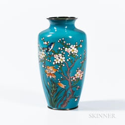 Light Blue Cloisonné Vase