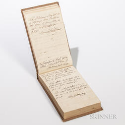 1850 Receipt Book for the Ship Castilian