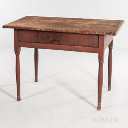 Red-painted Tavern Table