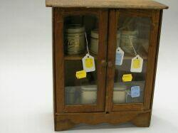 Tin Canister Set and China Cabinet