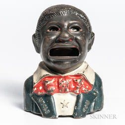 "Cast Iron ""Uncle Tom"" Mechanical Bank"