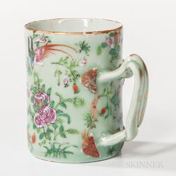Export Porcelain Celadon-glazed Mug