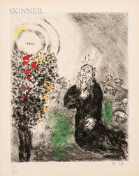 Marc Chagall (Russian/French, 1887-1985)      The Burning Bush