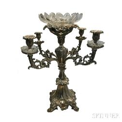 English Silver-plate Candelabra Centerpiece
