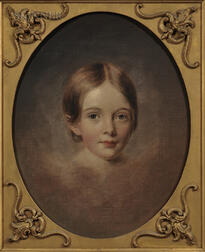 School of Thomas Sully (American, 1783-1872)       Portrait Head of a Young Girl