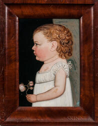 Benjamin Greenleaf (Massachusetts/New Hampshire, 1769-1821)      Portrait of a Baby Girl