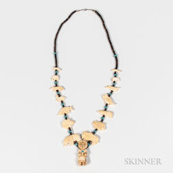 Contemporary Zuni Fetish Necklace