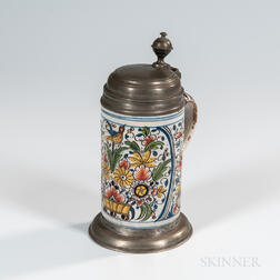 Polychrome Decorated Tin-glazed Tankard
