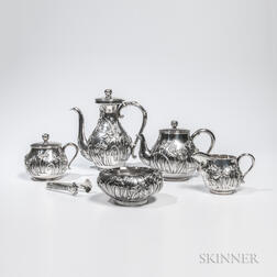 Five-piece Japanese Silver Tea and Coffee Service