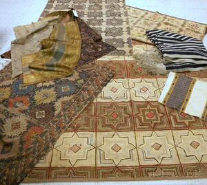 Nine Assorted Rug and Textile Items