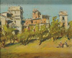 Attributed to Edwin Lord Weeks (American, 1849-1903)      City View with Olive Grove