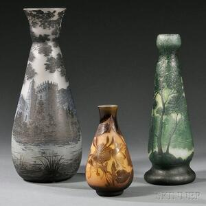 Richard, D'Argental, and Legras Cameo Vases