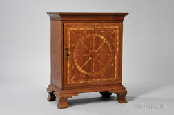 Inlaid Walnut Spice Cabinet
